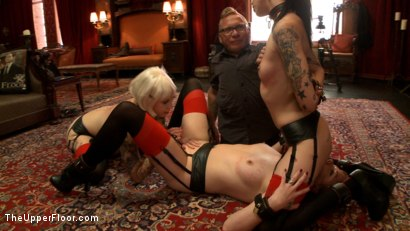 Photo number 14 from The House slaves Showcase their Foot Job Skills shot for The Upper Floor on Kink.com. Featuring Lilla Katt, Krysta Kaos and Sparky Sin Claire in hardcore BDSM & Fetish porn.