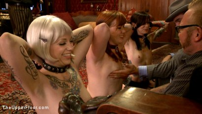 Photo number 15 from The House slaves Showcase their Foot Job Skills shot for The Upper Floor on Kink.com. Featuring Lilla Katt, Krysta Kaos and Sparky Sin Claire in hardcore BDSM & Fetish porn.