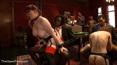 Photo number 9 from Service Day: Poker shot for The Upper Floor on Kink.com. Featuring Iona Grace, Nerine Mechanique, Bobby Bends and Mickey Mod in hardcore BDSM & Fetish porn.