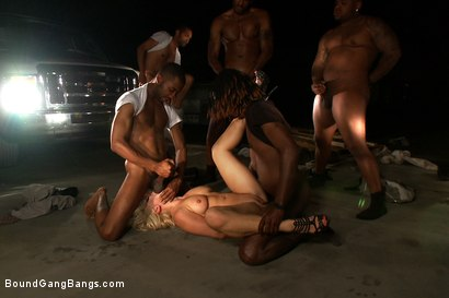 Photo number 10 from Hot Interracial Gangbang with Smoking Hot Blonde shot for Bound Gang Bangs on Kink.com. Featuring Lea Lexis, Tee Reel, Rico Strong, Mickey Mod, Flash Brown and Bobby Bends in hardcore BDSM & Fetish porn.