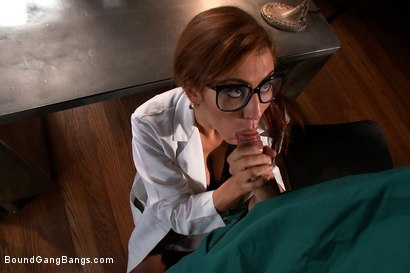 Photo number 2 from The Psych Ward: Part 2 shot for Bound Gang Bangs on Kink.com. Featuring Skin Diamond, James Deen, John Strong, Dietrich Cyrus, Bruce Venture, Will Jasper and Drake Temple in hardcore BDSM & Fetish porn.