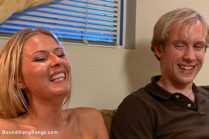 Photo number 15 from The Loan Sharks shot for Bound Gang Bangs on Kink.com. Featuring Riley Evans, John Strong, Mark Davis, Mr. Pete and Ned Mayhem in hardcore BDSM & Fetish porn.
