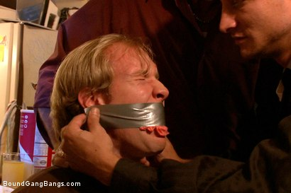 Photo number 1 from The Loan Sharks shot for Bound Gang Bangs on Kink.com. Featuring Riley Evans, John Strong, Mark Davis, Mr. Pete and Ned Mayhem in hardcore BDSM & Fetish porn.