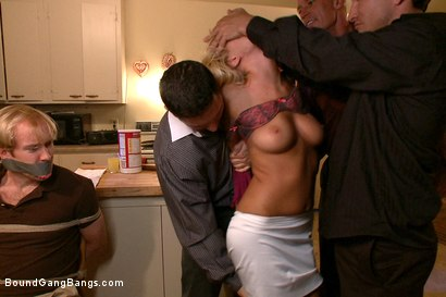 Photo number 2 from The Loan Sharks shot for Bound Gang Bangs on Kink.com. Featuring Riley Evans, John Strong, Mark Davis, Mr. Pete and Ned Mayhem in hardcore BDSM & Fetish porn.