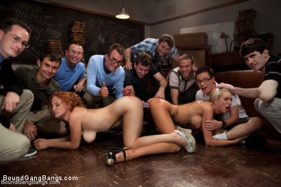 Photo number 6 from Revenge of the Nerdz shot for Bound Gang Bangs on Kink.com. Featuring James Deen, Dane Cross, Mr. Pete, Kaylee Hilton, Clayra Beau, Jesse Carl, Scout, Leo, Chris Ockham, Will Jasper and Dietrich Cyrus in hardcore BDSM & Fetish porn.