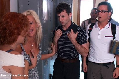 Photo number 2 from Revenge of the Nerdz shot for Bound Gang Bangs on Kink.com. Featuring James Deen, Dane Cross, Mr. Pete, Kaylee Hilton, Clayra Beau, Jesse Carl, Scout, Leo, Chris Ockham, Will Jasper and Dietrich Cyrus in hardcore BDSM & Fetish porn.