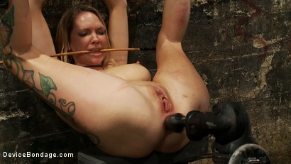 Photo number 13 from Double Penetration w/ Fucking Machines shot for Device Bondage on Kink.com. Featuring Rain DeGrey in hardcore BDSM & Fetish porn.