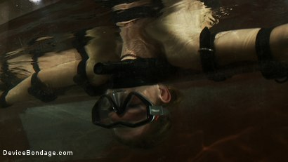 Photo number 12 from Underwater Inverted Sybian<br>Helpless big tittied blonde suffers mindblowing orgasms shot for Device Bondage on Kink.com. Featuring Rain DeGrey in hardcore BDSM & Fetish porn.