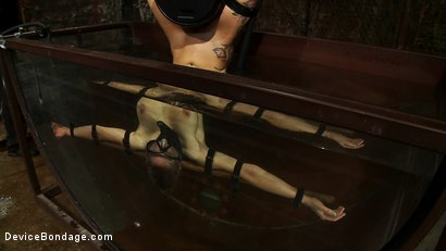 Photo number 5 from Underwater Inverted Sybian<br>Helpless big tittied blonde suffers mindblowing orgasms shot for Device Bondage on Kink.com. Featuring Rain DeGrey in hardcore BDSM & Fetish porn.