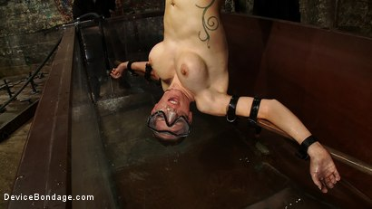 Photo number 10 from Underwater Inverted Sybian<br>Helpless big tittied blonde suffers mindblowing orgasms shot for Device Bondage on Kink.com. Featuring Rain DeGrey in hardcore BDSM & Fetish porn.