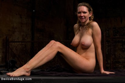 Photo number 15 from Underwater Inverted Sybian<br>Helpless big tittied blonde suffers mindblowing orgasms shot for Device Bondage on Kink.com. Featuring Rain DeGrey in hardcore BDSM & Fetish porn.