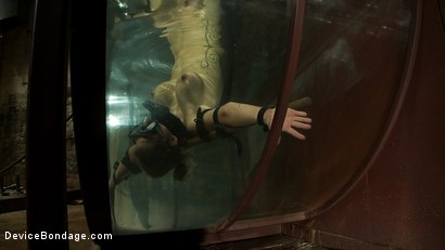 Photo number 7 from Underwater Inverted Sybian<br>Helpless big tittied blonde suffers mindblowing orgasms shot for Device Bondage on Kink.com. Featuring Rain DeGrey in hardcore BDSM & Fetish porn.