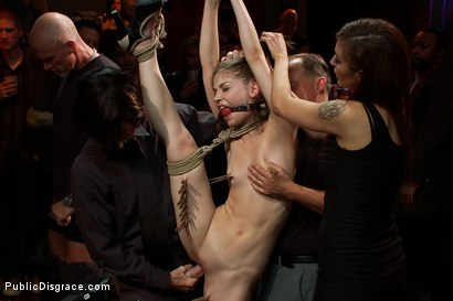 Photo number 4 from Super Flexible Sensi Pearl Gets Tied up and Fucked  shot for Public Disgrace on Kink.com. Featuring Sensi Pearl, Mark Davis and Princess Donna Dolore in hardcore BDSM & Fetish porn.