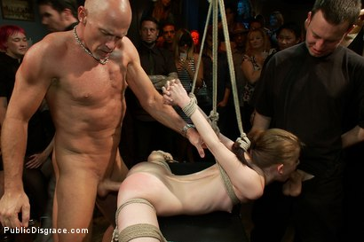 Photo number 11 from Super Flexible Sensi Pearl Gets Tied up and Fucked  shot for Public Disgrace on Kink.com. Featuring Sensi Pearl, Mark Davis and Princess Donna Dolore in hardcore BDSM & Fetish porn.