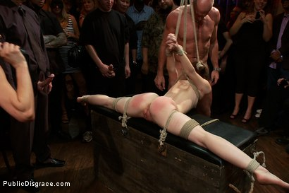 Photo number 12 from Super Flexible Sensi Pearl Gets Tied up and Fucked  shot for Public Disgrace on Kink.com. Featuring Sensi Pearl, Mark Davis and Princess Donna Dolore in hardcore BDSM & Fetish porn.