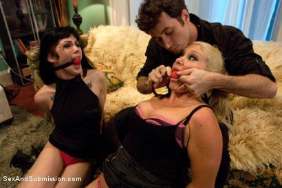 Photo number 4 from Punished Strippers shot for Sex And Submission on Kink.com. Featuring James Deen, Asphyxia Noir and Lea Lexis in hardcore BDSM & Fetish porn.