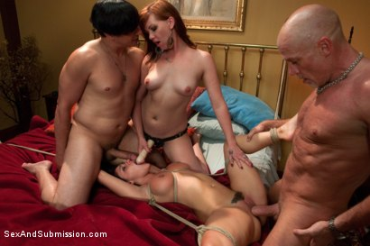 Photo number 9 from Crew Appreciation shot for Sex And Submission on Kink.com. Featuring Anthony Rosano, Charley Chase, Mark Davis and Lilla Katt in hardcore BDSM & Fetish porn.