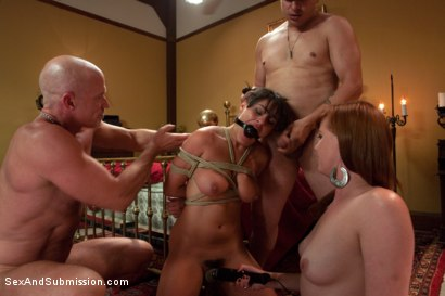 Photo number 10 from Crew Appreciation shot for Sex And Submission on Kink.com. Featuring Anthony Rosano, Charley Chase, Mark Davis and Lilla Katt in hardcore BDSM & Fetish porn.