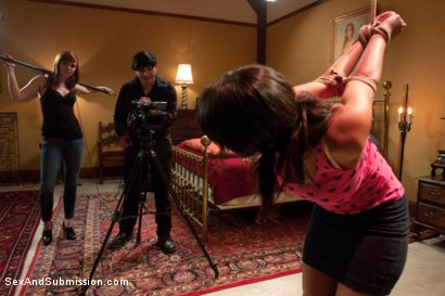 Photo number 2 from Crew Appreciation shot for Sex And Submission on Kink.com. Featuring Anthony Rosano, Charley Chase, Mark Davis and Lilla Katt in hardcore BDSM & Fetish porn.