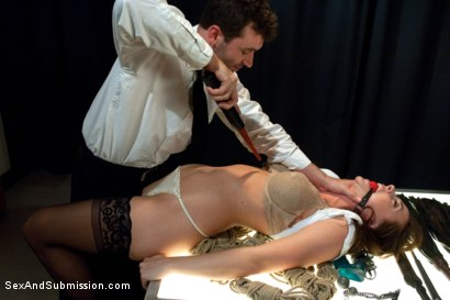 Photo number 3 from Airport Security shot for Sex And Submission on Kink.com. Featuring James Deen and Chanel Preston in hardcore BDSM & Fetish porn.