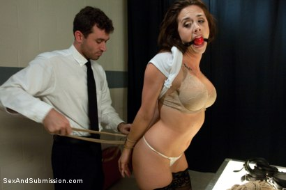 Photo number 4 from Airport Security shot for Sex And Submission on Kink.com. Featuring James Deen and Chanel Preston in hardcore BDSM & Fetish porn.