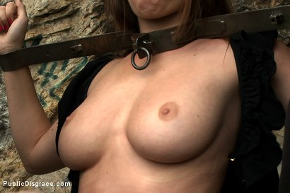 Photo number 3 from Big Natural Tits exposed in the Street shot for Public Disgrace on Kink.com. Featuring James Deen and Mona Lee in hardcore BDSM & Fetish porn.