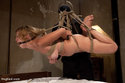 Photo number 11 from Helpless Blonde in hogtie struggling through orgasm after orgasm. shot for Hogtied on Kink.com. Featuring Audrey Rose in hardcore BDSM & Fetish porn.