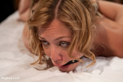 Photo number 7 from Helpless Blonde in hogtie struggling through orgasm after orgasm. shot for Hogtied on Kink.com. Featuring Audrey Rose in hardcore BDSM & Fetish porn.