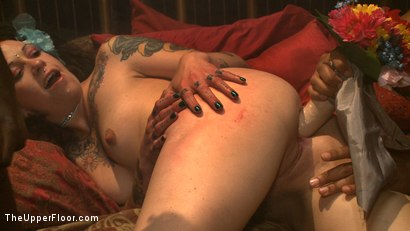 Photo number 6 from Sin's Decollaring  shot for The Upper Floor on Kink.com. Featuring Marco Banderas, Mickey Mod, Bobby Bends, Mark Davis, Krysta Kaos, Iona Grace, Nerine Mechanique, Lilla Katt and Sparky Sin Claire in hardcore BDSM & Fetish porn.