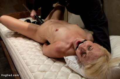 Photo number 13 from Rich blond taken, bound with tape<br>Manhandled, stripped, exposed, made to cum like a common whore. shot for Hogtied on Kink.com. Featuring Dylan Ryan in hardcore BDSM & Fetish porn.