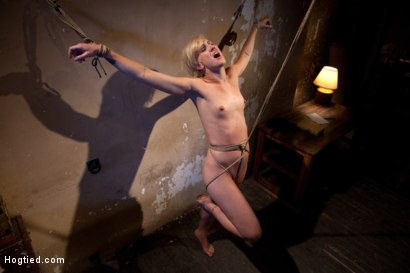 Photo number 14 from Tall hot blonde on tip-toes hanging from a crotch rope, made to squirt. shot for Hogtied on Kink.com. Featuring Dylan Ryan in hardcore BDSM & Fetish porn.