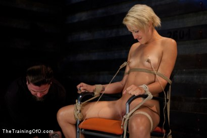 Photo number 5 from Dylan - Day Two<br>Sexual Testing, Electricity, and Mummification Suspension shot for The Training Of O on Kink.com. Featuring Dylan Ryan and Mickey Mod in hardcore BDSM & Fetish porn.