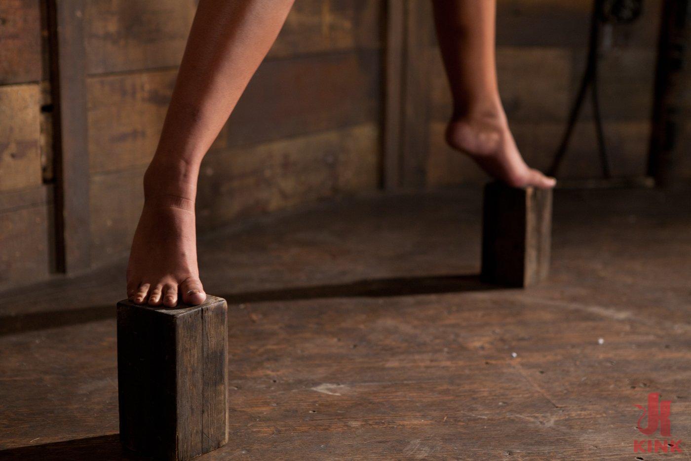 Torture sex hard crotch bdsm rope