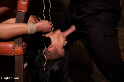 Photo number 3 from Skin gets all three holes fucked & fucked well<br>Skin made to cum so many times she even lost count shot for Hogtied on Kink.com. Featuring Skin Diamond and Isis Love in hardcore BDSM & Fetish porn.