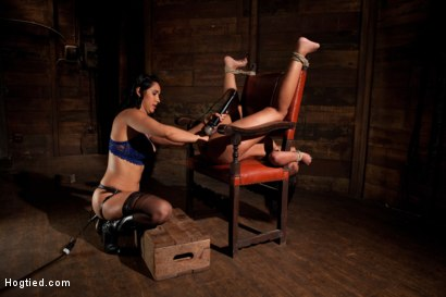 Photo number 9 from Skin gets all three holes fucked & fucked well<br>Skin made to cum so many times she even lost count shot for Hogtied on Kink.com. Featuring Skin Diamond and Isis Love in hardcore BDSM & Fetish porn.