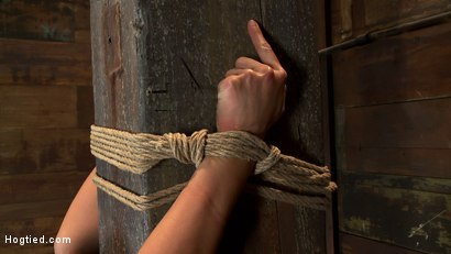 Rope pole bound to with