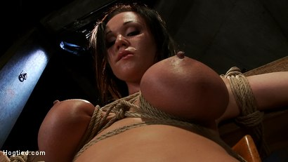 Photo number 4 from Big titted 21yr old in her first ever hardcore bondage shoot<br> Once helpless we abuse those tits. shot for Hogtied on Kink.com. Featuring Chloe Reece Ryder in hardcore BDSM & Fetish porn.