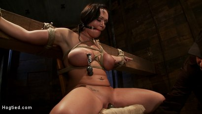 Photo number 7 from Big titted 21yr old in her first ever hardcore bondage shoot<br> Once helpless we abuse those tits. shot for Hogtied on Kink.com. Featuring Chloe Reece Ryder in hardcore BDSM & Fetish porn.