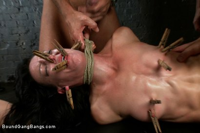 Photo number 11 from Locked in a Dungeon and Used as a Sex Toy shot for Bound Gang Bangs on Kink.com. Featuring Elise Graves in hardcore BDSM & Fetish porn.