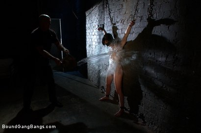 Photo number 2 from Locked in a Dungeon and Used as a Sex Toy shot for Bound Gang Bangs on Kink.com. Featuring Elise Graves in hardcore BDSM & Fetish porn.