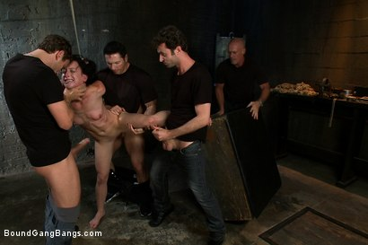 Photo number 7 from Locked in a Dungeon and Used as a Sex Toy shot for Bound Gang Bangs on Kink.com. Featuring Elise Graves in hardcore BDSM & Fetish porn.