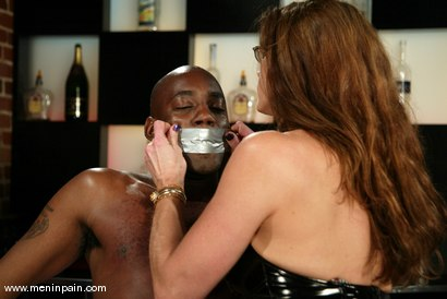 Photo number 4 from Chocolate Luv and Kym Wilde shot for Men In Pain on Kink.com. Featuring Chocolate Luv and Kym Wilde in hardcore BDSM & Fetish porn.