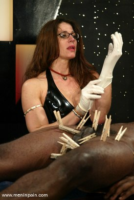 Photo number 13 from Chocolate Luv and Kym Wilde shot for Men In Pain on Kink.com. Featuring Chocolate Luv and Kym Wilde in hardcore BDSM & Fetish porn.