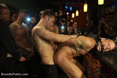 Photo number 8 from Club Dragon shot for Bound in Public on Kink.com. Featuring Shane Frost, Tristan Jaxx and Tristan Tran in hardcore BDSM & Fetish porn.