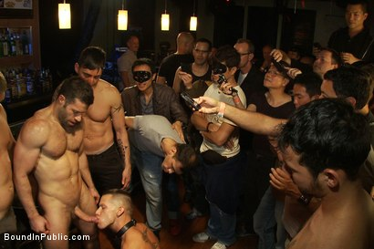 Photo number 14 from Club Dragon shot for Bound in Public on Kink.com. Featuring Shane Frost, Tristan Jaxx and Tristan Tran in hardcore BDSM & Fetish porn.