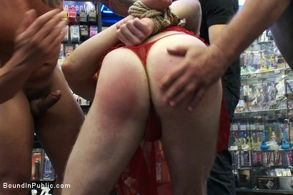 Photo number 4 from Two studs drag businessman into porn shop and strip his manhood! shot for Bound in Public on Kink.com. Featuring Alexsander Freitas and Ned Mayhem in hardcore BDSM & Fetish porn.