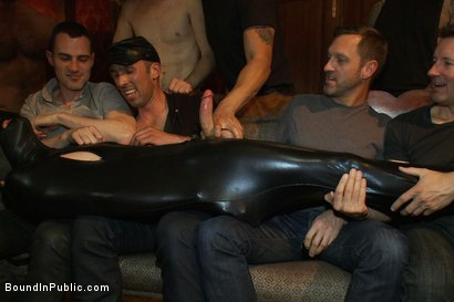 Photo number 2 from Big cock slave is publicly humiliated and caught in the cum fest. shot for Bound in Public on Kink.com. Featuring Josh West, Cole Streets and Lief Kaase in hardcore BDSM & Fetish porn.