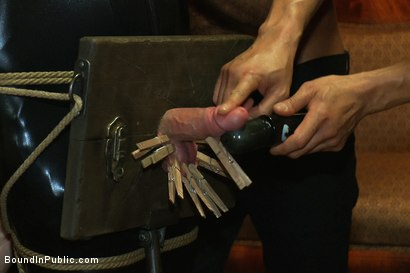 Photo number 3 from Big cock slave is publicly humiliated and caught in the cum fest. shot for Bound in Public on Kink.com. Featuring Josh West, Cole Streets and Lief Kaase in hardcore BDSM & Fetish porn.