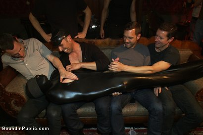 Photo number 1 from Big cock slave is publicly humiliated and caught in the cum fest. shot for Bound in Public on Kink.com. Featuring Josh West, Cole Streets and Lief Kaase in hardcore BDSM & Fetish porn.