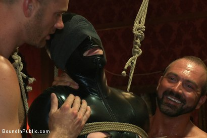 Photo number 4 from Big cock slave is publicly humiliated and caught in the cum fest. shot for Bound in Public on Kink.com. Featuring Josh West, Cole Streets and Lief Kaase in hardcore BDSM & Fetish porn.